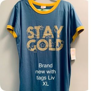 NWT Liv Stay Gold in Size Xl.